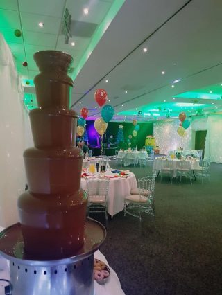 chocolate fountain at a birthday party in liverpool