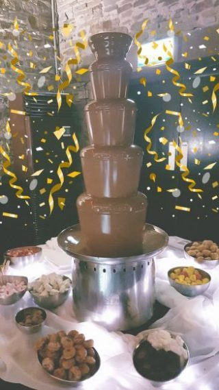 chocolate fountain at a wedding in wirral