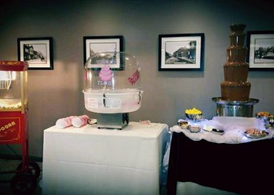 chocolate fountain candy floss and popcorn at a wedding holiday inn ellesmere port