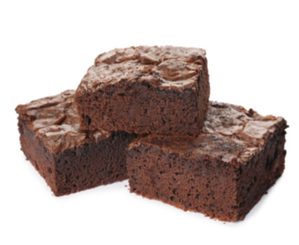 chocolate brownies for a chocolate fountain