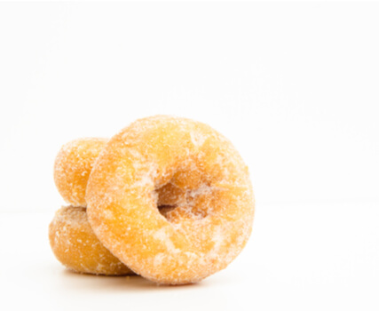 mini doughnuts for a chocolate fountain